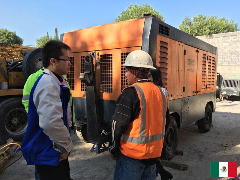 DENAIR 777cfm 20bar Compresseur Mobile au Mexique