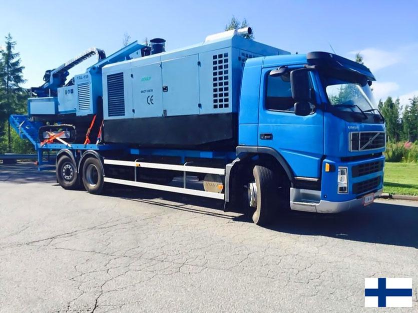 DENAIR Compresseur Mobile et Le Forage en Finlande