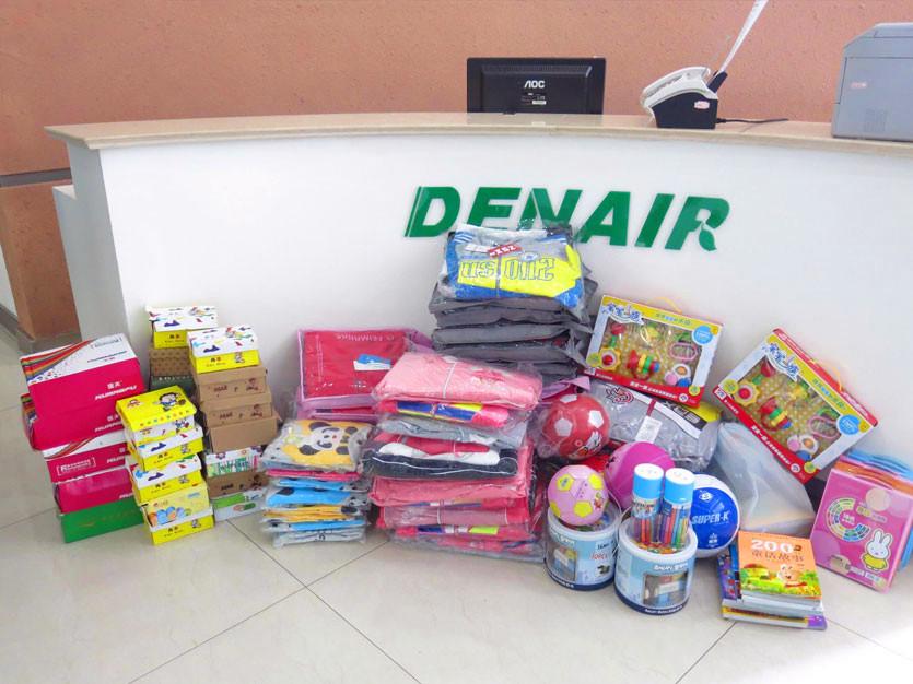 DENAIR a fait l'activité de soins affectueux à la maison du bien-être à Huzhou