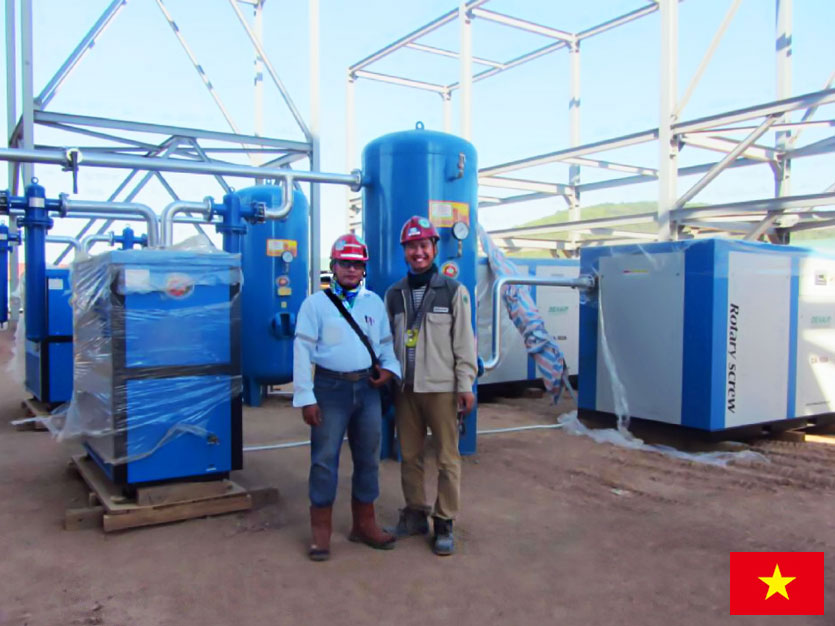 DENAIR Compresseur Utilisé Pour la Raffinerie de Pétrole au Vietnam
