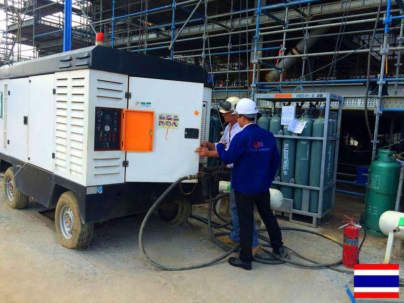 DENAIR Compresseur d'air Mobile Pour Revêtement en Thaïlande